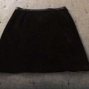 Leather Suede Skirt